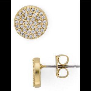 NWT Nadri Circle Stud Earrings